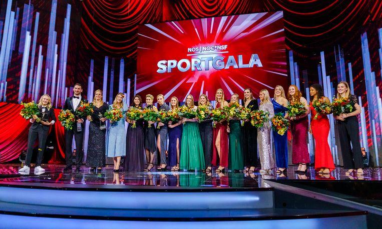 Groepsfoto van de winnaars van het jaar 2019. Beeld ANP