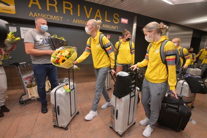 Ann Wauters en de Belgian Cats komen weer thuis na de Olympische Spelen.
