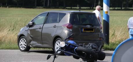 Motorrijder gewond na ongeluk bij Glane