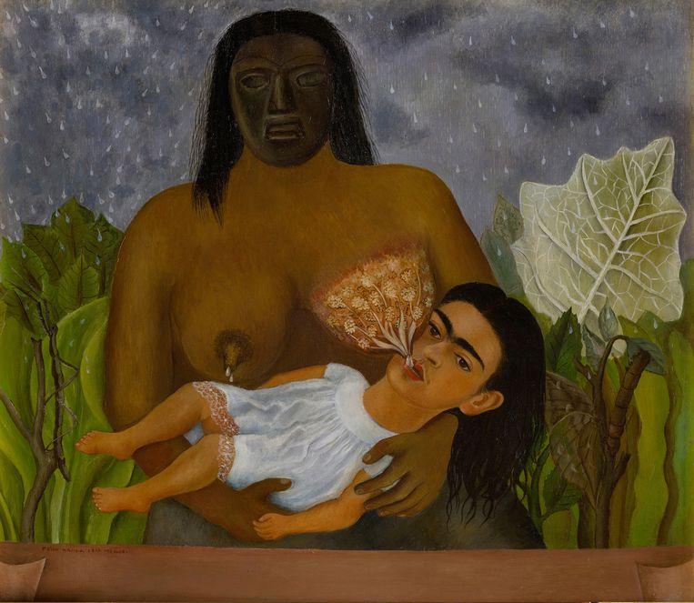 Frida Kahlo, Mijn voedster en ik. Beeld