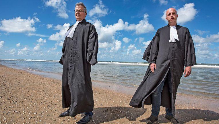 Nico Meijering (links) en Christian Flokstra, de advocaten van hoofdverdachte Dino S. Beeld Guus Dubbelman / de Volkskrant