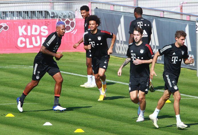 Bayern München eerder dit seizoen, met Jerome Boateng, Serge Gnabry, Leroy Sane, Adrian Fein en Thomas Müller.
