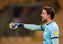 NORWICH, ENGLAND - APRIL 06:  Norwich City's Tim Krul during the Sky Bet Championship match between Norwich City and Huddersfield Town at Carrow Road on April 6, 2021 in Norwich, England. (Photo by Chris Vaughan - CameraSport via Getty Images)