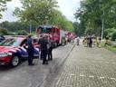 Vier brandweerauto's van de posten Laren, Vorden, Zelhem en 'S-Heerenberg en een Officier van Dienst vertrekken vanuit Doetinchem naar Limburg om te helpen in de strijd tegen de wateroverlast.
