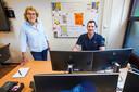 Roosterplanner Bertus van der Steen en directeur Monique Helling van het Diamant College