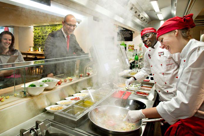 Vapiano telt in Nederland elf restaurants, waaronder twee in Rotterdam.