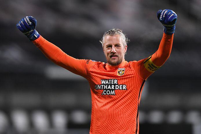Remko Pasveer na de 2-0 zege van Vitesse bij Heracles.