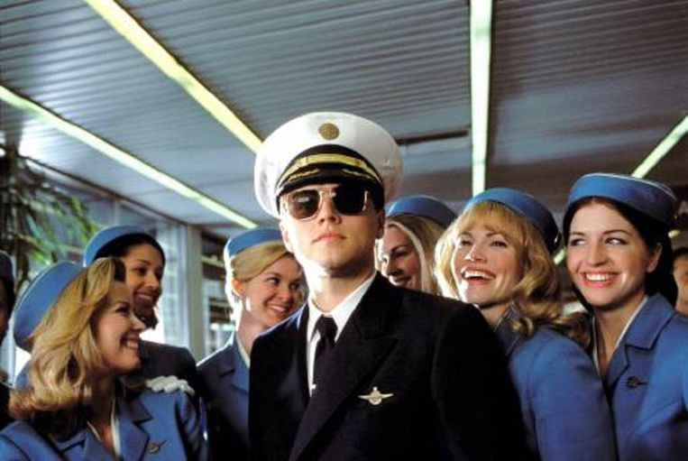 Leonardo DiCaprio in Catch me if you can. Beeld