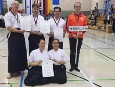 WK-zilver voor 'Utrechtse' herenteam vechtsport naginata