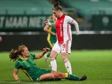 Ondanks een nederlaag tegen Ajax heeft ADO-speelster Priscilla Mesker reden om blij te zijn