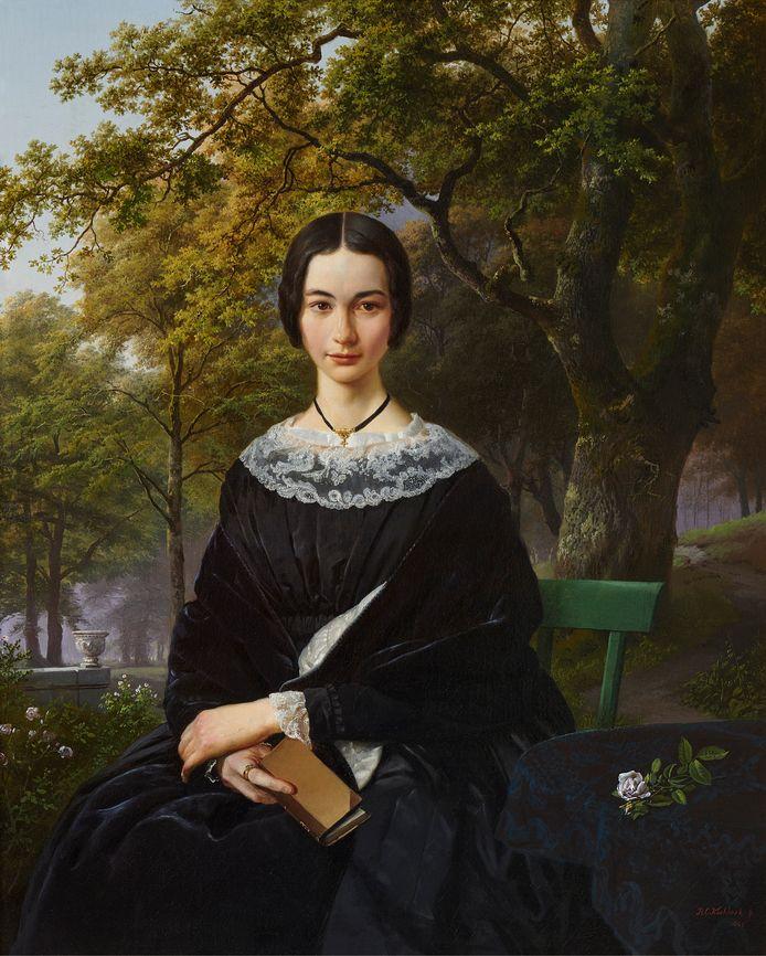 Portret van een onbekende vrouw (1846), ook wel de 'Mona Lisa van Kleef' genoemd.
