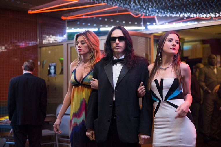 James Franco als de freaky Tommy Wiseau in 'The Disaster Artist'.  Beeld Justina Mintz