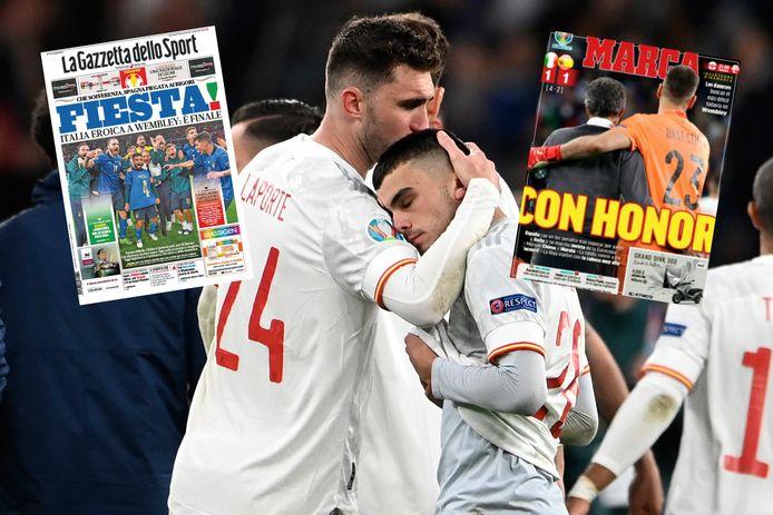 Italiaanse en Spaanse pers over de zenuwslopende halve finale.