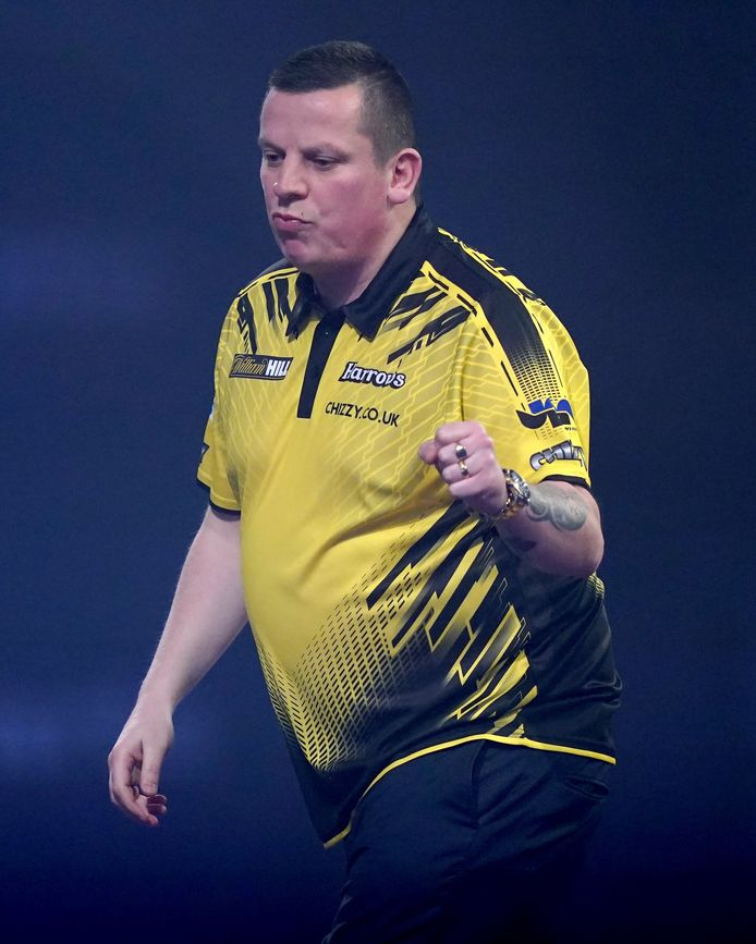Dave Chisnall aan het feest in 'Ally Pally'.