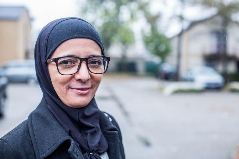 Rachma Ayad, de grootmoeder van de terugkerende kinderen. Beeld thomas legreve