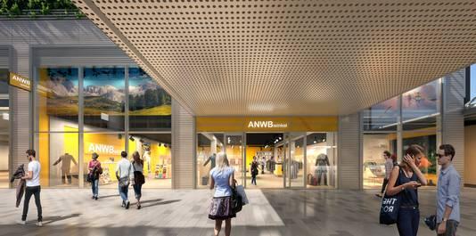 Impressie van de nieuwe ANWB-winkel.