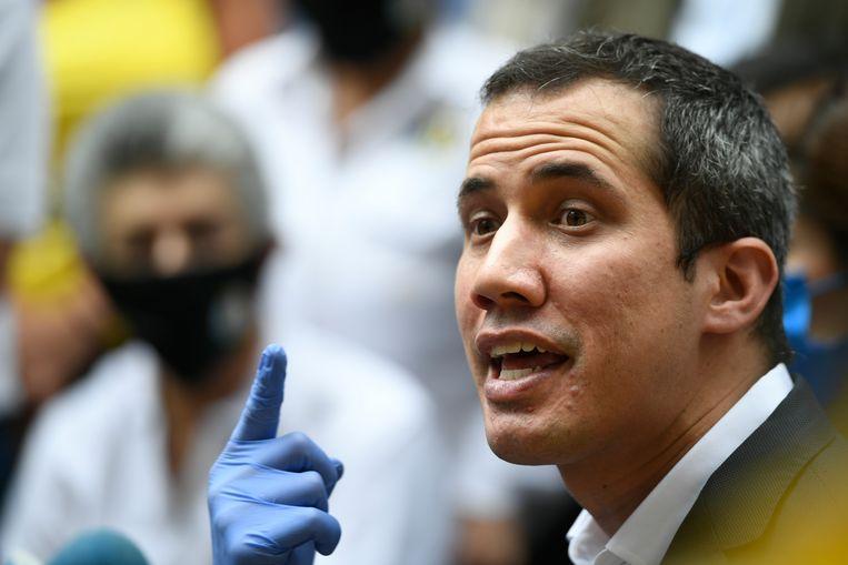 De zelfbenoemde Venezolaanse interim-president Juan Guaidó.  Beeld AP