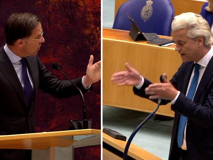 Wilders tegen Rutte: 'U bent de trekpop van Kaag'