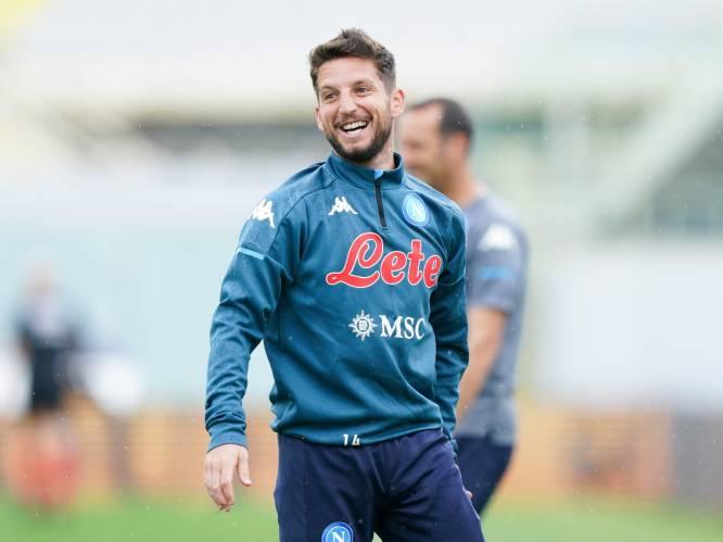 Rentree Dries Mertens zondag tegen Cagliari verwacht: eindelijk weer fit (en 5 kilogram lichter)