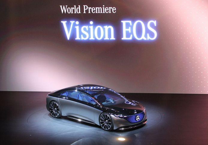 Concept van een grote, elektrische limousine van Mercedes: de EQS