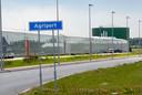 Bedrijventerrein Agriport in Middenmeer waar Google een nieuw datacenter bouwt. Concurrent Microsoft is er al groot aanwezig.