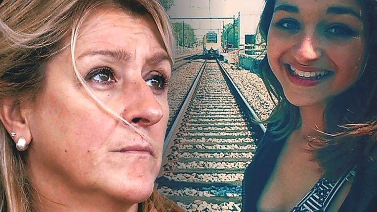 Charlotte Nuñez werd vorig jaar gegrepen door een trein toen ze samen met een vriendin selfies nam op het spoor. Mama Carla kreeg nu een rekening van 19.000 euro.