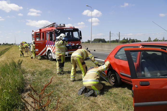 Een ongeluk op de N50 zondagmiddag.