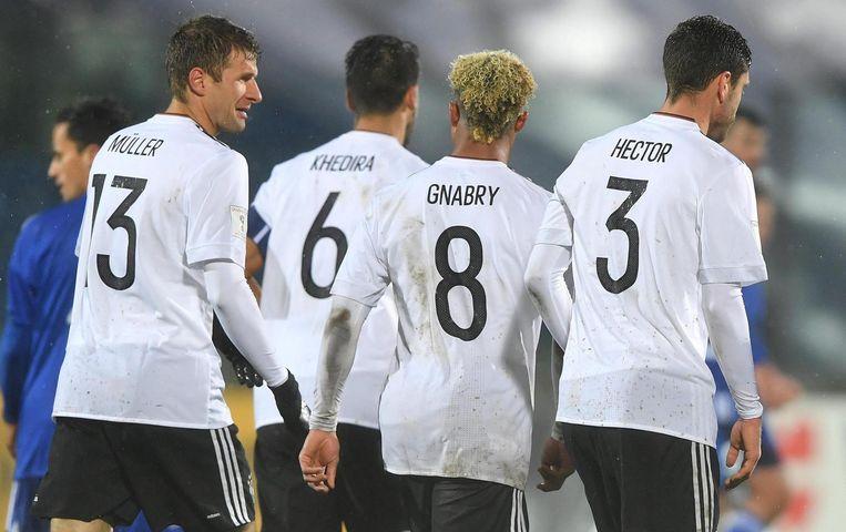 Duitsland won met speels gemak. Beeld epa