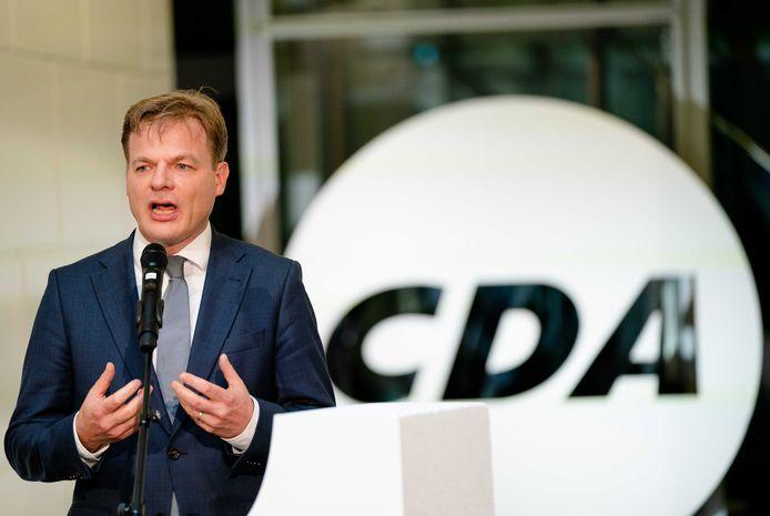 Pieter Omtzigt  tijdens de voordracht van het CDA van de nieuwe lijsttrekker van de partij.