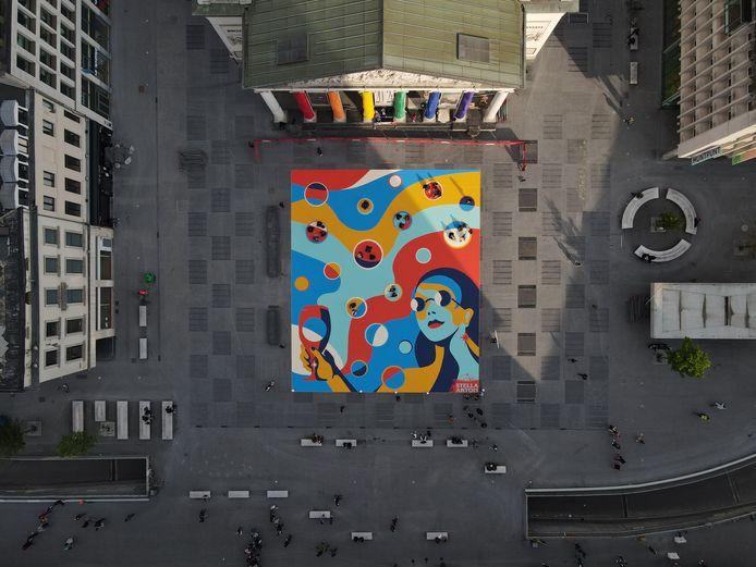 Het kunstwerk is liefst 572 vierkante meter groot.