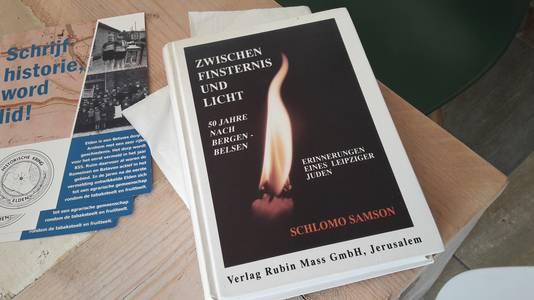 Het boek van Schlomo Samson, voormalig bewoner van Huize Voorburg in Elden bij Arnhem. Hij overleefd kamp Bergen Belsen en kwam in 1946 in Palestina aan.
