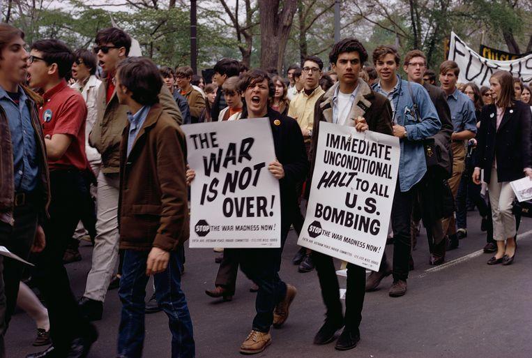 1968: wereldwijde betogingen tegen de Vietnam-oorlog. Beeld Corbis via Getty Images