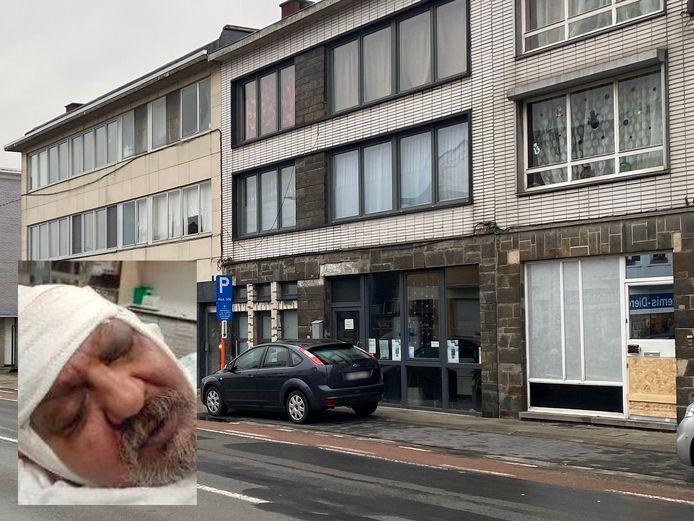 MECHELEN - Het slachtoffer (links) en de woning waar de feiten zich hebben afgespeeld (grote foto).
