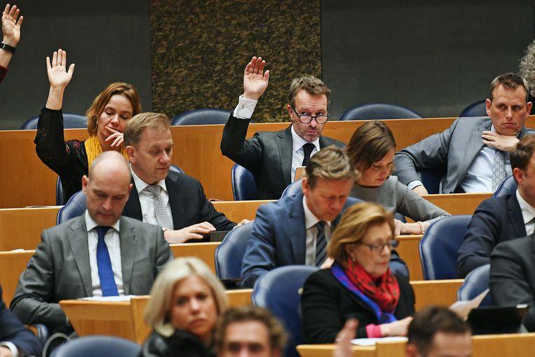 Nederland, Den Haag, 27-3-2018 Wybren van Haga, VVD kamerlid, tijdens stemmenronde in de Tweede Kamer. FOTO : Guus Dubbelman / de Volkskrant Beeld Guus Dubbelman
