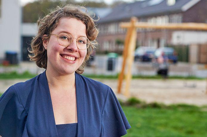 Christa van de Langenberg uit Uden, met  22 jaar de jongste op de CDA-lijst, op Uden-Zuid waar ze woont. En ook blijft wonen als ze voor de Tweede Kamer gekozen zou worden.