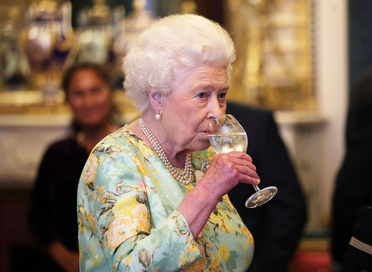 LONDON, ENGLAND - JULY 11: Queen Elizabeth II attends a reception for winners of The Queen's Awards for Enterprise, at Buckingham Palace on July 11, 2017 in London, England.  (Photo by Yui Mok - WPA Pool/Getty Images) Beeld Getty Images