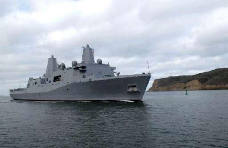 Een beeld van het amfibieschip USS New Orleans. Beeld UNKNOWN