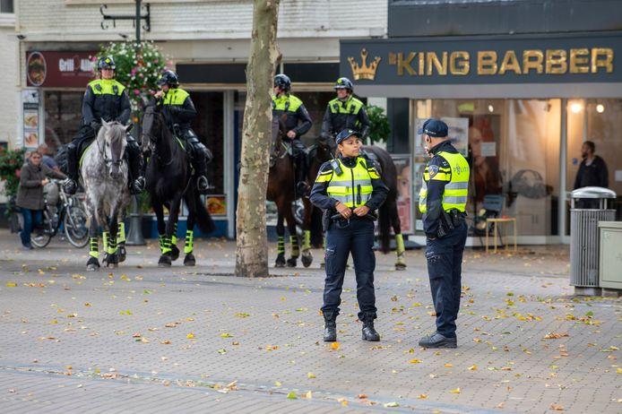 De politie is er wel, maar Pegida komt niet.