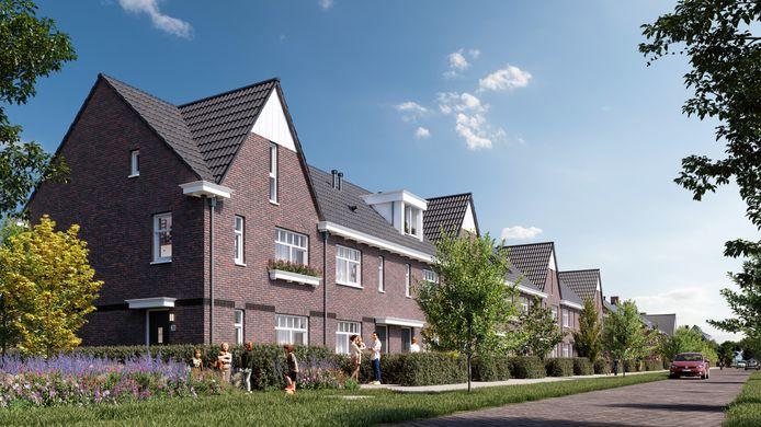 Artist's impression van Buyten, een deel van de nieuwbouwlocatie Wilderszijde tussen Rotterdam en Bergschenhoek.