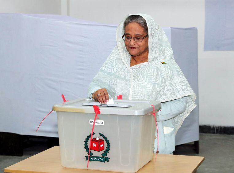 De premier van Bangladesh, Sheikh Hasina. Beeld REUTERS