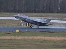 F-35 soms al te zien en te horen boven Volkel
