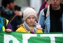 Greta Thunberg lors d'une manifestation pour le climat à Bristol, le 28 février 2020.