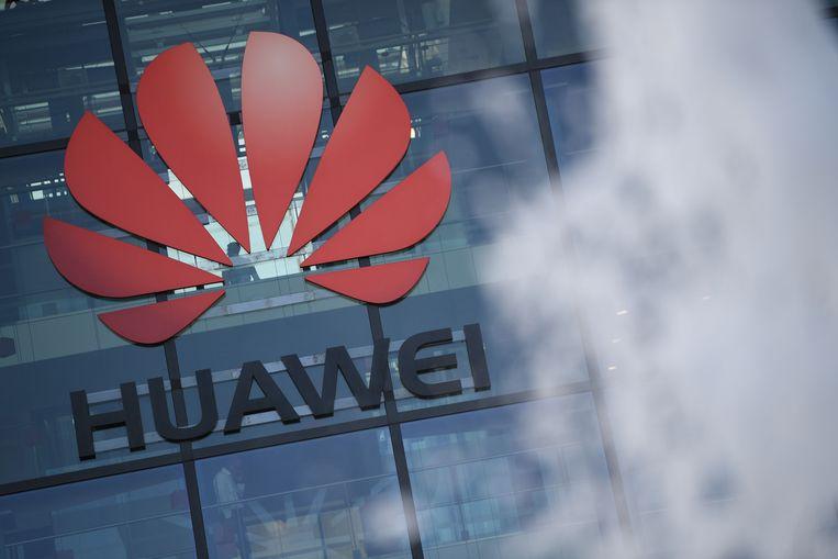 Een kantoor van het Chinese telecombedrijf Huawei, dat een hoofdrol wil spelen in de aanleg van 5G-netwerken, in Londen. Beeld AFP