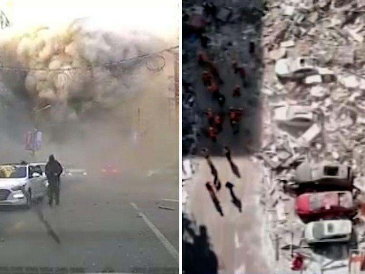 Drie doden bij ontploffing in China, explosie gefilmd met dashcam