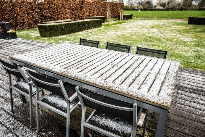 Sneeuw in Zemst.