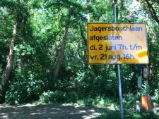 Rechter grijpt in en legt verharding Jagersboschlaan Vught tijdelijk stil