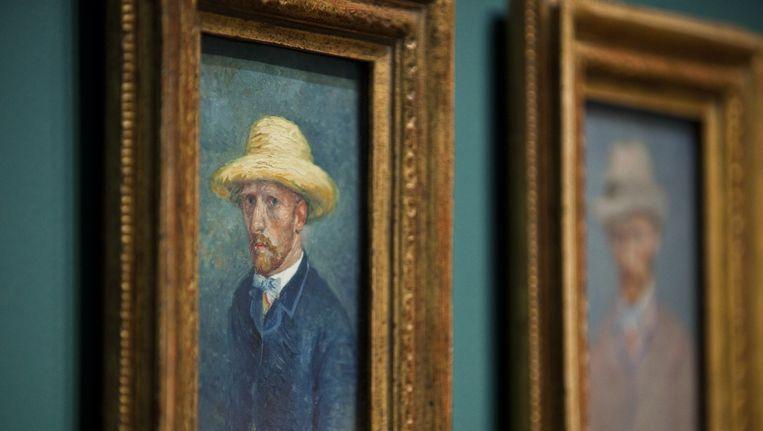 Schilderijen gemaakt door Vincent van Gogh in het Van Gogh Museum in Amsterdam. Beeld anp