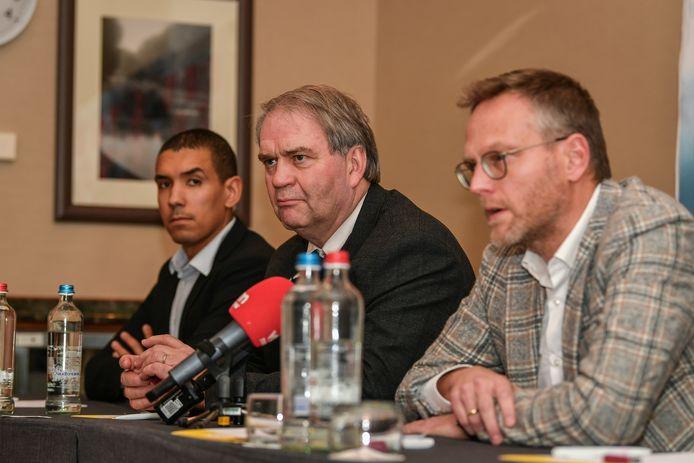 Pierre François, CEO van de Pro League, en Peter Croonen, voorzitter van de Pro League.