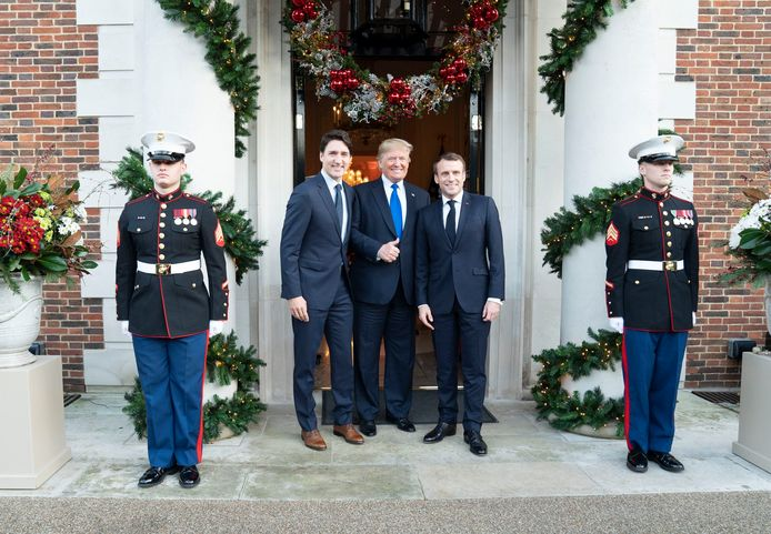 Justin Trudeau, Donald Trump et Emmanuel Macron