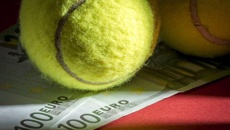 Illustratie: wedstrijden verkopen bij tennis. Beeld Anp